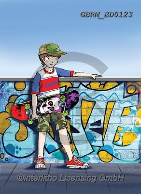 Roger, CHILDREN, KINDER, NIÑOS, paintings+++++,GBRMED0123,#k#, EVERYDAY