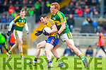 Kerry Johnny Buckley tackles  Ciaran Murtagh Roscommon during their NFKL Div 1 clash in Fitzgerald Stadium on Sunday
