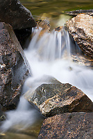 detail of small waterfall on Cascade Creek
