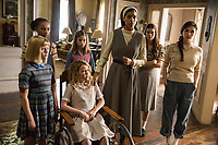 Annabelle: Creation (2017)<br /> LULU WILSON as Linda, TAYLER BUCK as Kate, TALITHA BATEMAN as Janice, LOU LOU SAFRAN as Tierney, STEPHANIE SIGMAN as Sister Charlotte, PHILIPPA COULTHARD as Nancy and GRACE FULTON as Carol<br /> *Filmstill - Editorial Use Only*<br /> CAP/KFS<br /> Image supplied by Capital Pictures