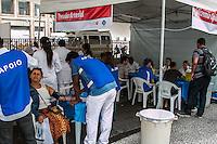 SÃO PAULO, SP, 12.11.2014 - MULTIRÃO DE SAÚDE/ ORIENTAÇÕES DE PRIMEIRO SOCORROS/ CENTRO DE SÃO PAULO - Escola de Saúde realiza mutirão de saúde e orientação de primeiro socorros na tarde desta quarta - feira (12), na região central de São Paulo.  (Foto: Taba Benedicto/ Brazil Photo Press)