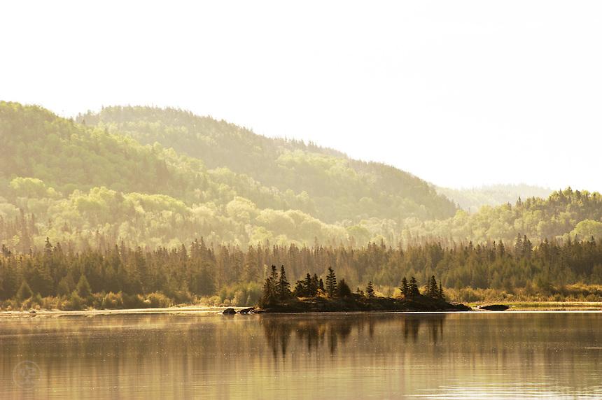 Early morning light, Pukaskwa National Park, Lake Superior, Ontario, Canada.