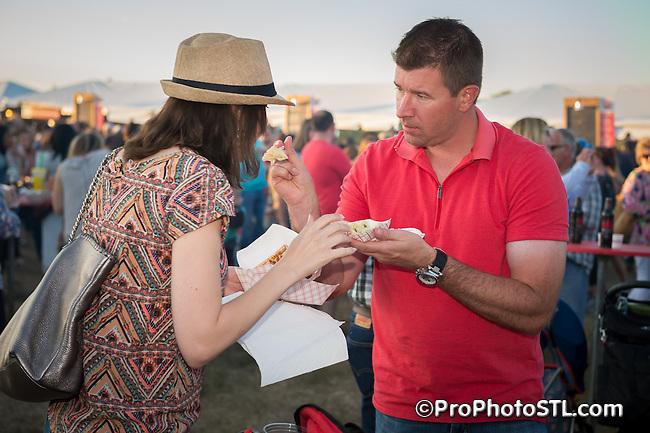 Taste of St. Louis food sampling event in Chesterfield, Missouri on Sep 19, 2015.