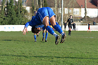 Lewis Francis of Walthamstow scores the first Goal and celebrates during Walthamstow vs Sawbridgeworth Town, Essex Senior League Football at Wadham Lodge Sports Ground on 8th February 2020