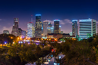 Houston Bayou Night - This is an image we took of downtown Houston skyline at night looking down the Buffalo Bayou.  You can see all the high rise skyscrapers along with the hwy and the bayou with the reflections of the city.