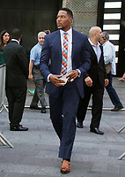 NEW YORK, NY - AUGUST 10: Michael Strahan seen at Good Morning America in New York City on August 10, 2017. <br /> CAP/MPI/RW<br /> &copy;RW/MPI/Capital Pictures