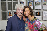 Tony Bechara and Anita Durst attends the ChaShaMa 'Open Studios' Opening Night Reception on October 12, 2018 at the Brooklyn Army Terminal in Brooklyn, New York.