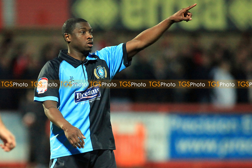 Wycombe Wanderers  striker, Jo Kuffour.- Cheltenham Town vs Wycombe Wanderers - NPower League Two Football at the Abbey Business Stadium, Whaddon Road - 26/12/12 - MANDATORY CREDIT: Paul Dennis/TGSPHOTO - Self billing applies where appropriate - 0845 094 6026 - contact@tgsphoto.co.uk - NO UNPAID USE.