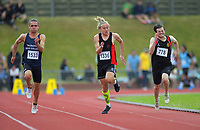 100m senior boys quarterfinals. 2019 New Zealand Secondary Schools Athletics Championships at Newtown Park in Wellington, New Zealand on Saturday, 7 December 2019. Photo: Dave Lintott / lintottphoto.co.nz