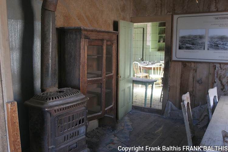 stove in home in Bodie