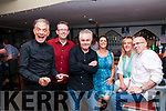 Fr. Ted Comedy Night: Joe Looney who played Fr. Damo in the TV series Fr. Ted and Patrick McDonnell also from the series pictured with Sean Paul Greaney, Eileen Healy, Kathy Sadlier & David Morrissey at the Ocean Bar, Ballybunion on Friday night last.