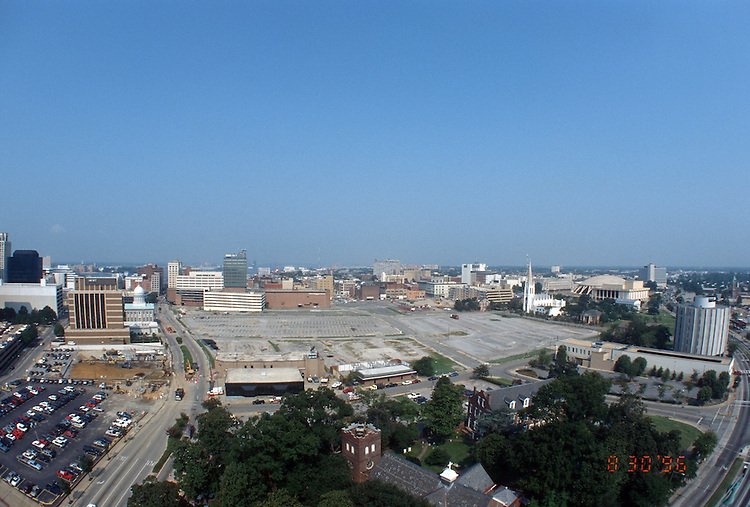 1996 August 30..Redevelopment..Macarthur Center.Downtown North (R-8)..PROGRESS.SUPERWIDE.LOOKING WEST FROM SCHOOL ADMIN BUILDING...NEG#.NRHA#..