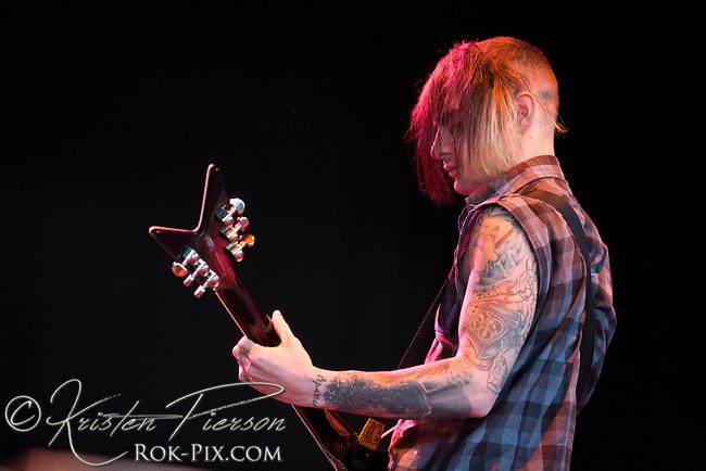 Pop Evil perform at Comcast Center in Hartford on May 20, 2011