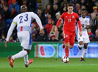 Tom Lawrence of Wales (C) during the international friendly soccer match between Wales and Panama at Cardiff City Stadium, Cardiff, Wales, UK. Tuesday 14 November 2017.