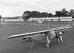 A replica of the Spirit of St. Louis, the first plane piloted by Charles Linderberg to fly solo accross the Atlantic is pictured after landing in Killarney Racecourse in 1955. This replica was used in the movie staring James Stewart and recounted the historic flight. The first landfall seen by the pilot after crossing the Atlantic was The Skellig Rocks in Dingle Bay. The original plane is on display in the Smithsonian Institute in the US.<br /> Picture by Donal MacMonagle