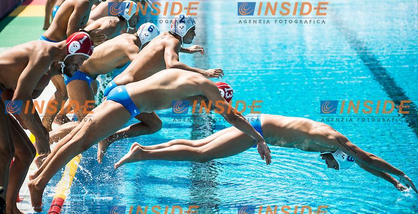 Team Italy<br /> ITA(white) vs GEO(blue) Men<br /> LEN European Water Polo Championships 2014 - July 14-27<br /> Alfred Hajos -Tamas Szechy Swimming Complex<br /> Margitsziget - Margaret Island<br /> Day04 - July 17 <br /> Photo G. Scala/Inside/