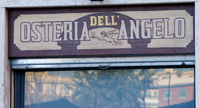 Osteria Dell Angelo Restaurant, Rome, Italy