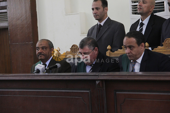 the Judge attends the trial of Ansar Bait Al-Maqdis group in Cairo on Oct. 13, 2015, on charges of assassination of police officers, attempted assassination of interior minister Mohamed Ibrahim and explosions near security facilities to July 4. Photo by Amr Sayed