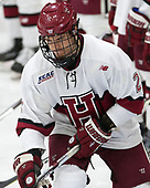 Tyler Moy (Harvard - 2) - The Harvard University Crimson defeated the St. Lawrence University Saints 6-3 (EN) to clinch the ECAC playoffs first seed and a share in the regular season championship on senior night, Saturday, February 25, 2017, at Bright-Landry Hockey Center in Boston, Massachusetts.