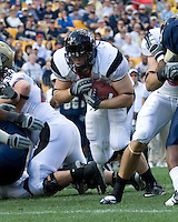 Cincinnati Bearcats tight end Doug Jones scores on a 3-yard touchdown run.  The Pitt Panthers defeated the Cincinnati Bearcats 24-17 on October 20, 2007 at Heinz Field, Pittsburgh, Pennsylvania.