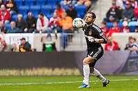 Los Angeles Galaxy goalkeeper Carlo Cudicini (1). The New York Red Bulls defeated the Los Angeles Galaxy 1-0 during a Major League Soccer (MLS) match at Red Bull Arena in Harrison, NJ, on May 19, 2013.