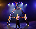 Underbelly Press Launch at the Edinburgh Festival Fringe. Underbelly presents a showcase of a number of productions and acts to launch their Fringe 2018, in the upturned purple cow, George Square, Edinburgh. Picture shows: Cirque Alfonse - Tabarnak.