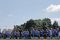 SAO PAULO, 04 DE MARÇO, 2013  - TREINO PALMEIRAS - O jogadores do Palmeiras durante treino na Academia de Futebol, na manhã desta segunda-feira(04), zona oeste de capital.  A equipe se prepara para 3ª rodada da Libertadores, contra o Tigre, na próxima quarta(06/03) no Estádio José Dellagiovanna - Monumental de Victoria - FOTO: LOLA OLIVEIRA//BRAZIL PHOTO PRESS