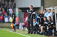 Bolton Wanderers manager Phil Parkinson shouts instructions to his team from the dug-out<br /> <br /> Photographer Chris Vaughan/CameraSport<br /> <br /> The EFL Sky Bet League One - Scunthorpe United v Bolton Wanderers - Saturday 8th April 2017 - Glanford Park - Scunthorpe<br /> <br /> World Copyright &copy; 2017 CameraSport. All rights reserved. 43 Linden Ave. Countesthorpe. Leicester. England. LE8 5PG - Tel: +44 (0) 116 277 4147 - admin@camerasport.com - www.camerasport.com