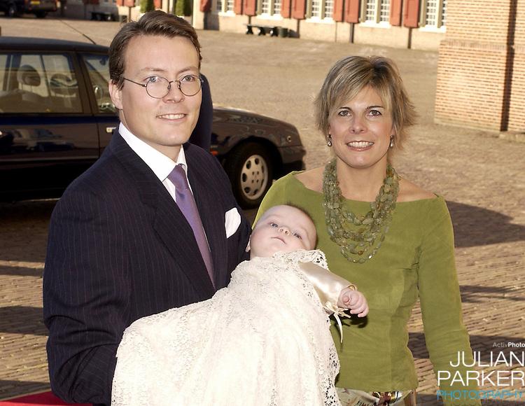 The Christening of Prince Constantijn & Princess Laurentien of Holland's son Claus-Casimir, at the Palais Het Loo in Apeldoorn..