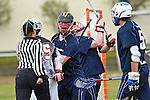 GER - Hannover, Germany, May 30: During the Men Lacrosse Playoffs 2015 match between HLC Rot-Weiss Muenchen (blue) and KKHT Schwarz-Weiss Koeln (weiss) on May 30, 2015 at Deutscher Hockey-Club Hannover e.V. in Hannover, Germany. Final score 5:6. (Photo by Dirk Markgraf / www.265-images.com) *** Local caption *** Maximilian Bieber #22 of HLC Rot-Weiss Muenchen