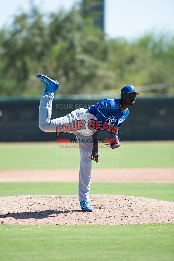 Kansas City Royals relief pitcher Malcolm Van Buren (52) delivers a pitch during an Instructional League game against the Chicago White Sox at Camelback Ranch on September 25, 2018 in Glendale, Arizona. (Zachary Lucy/Four Seam Images)