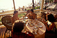 Women enjoying tea at the Moana Surfrider Hotel in Waikiki