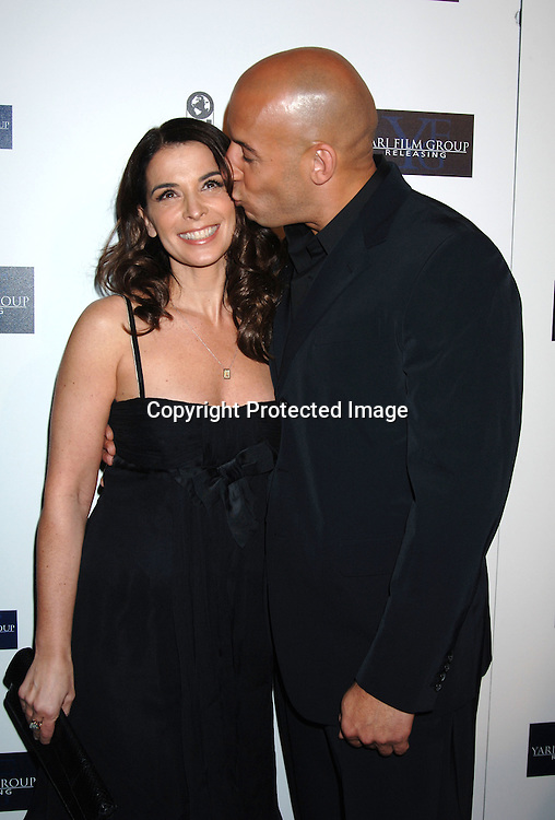 """Annabella Sciorra and Vin Diesel ..at The New York Premiere of """"Find Me Guilty"""" directed by ..Sidney Lumet on March 14, 2006 at The Sony Lincoln ..Square Theatre. ..Robin Platzer, Twin Images"""