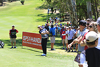 Brett Rumford (AUS) in action on the 1st during Round 3 of the ISPS Handa World Super 6 Perth at Lake Karrinyup Country Club on the Saturday 10th February 2018.<br /> Picture:  Thos Caffrey / www.golffile.ie<br /> <br /> All photo usage must carry mandatory copyright credit (&copy; Golffile | Thos Caffrey)