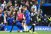 2nd December 2017, Stamford Bridge, London, England; EPL Premier League football, Chelsea versus Newcastle United; Victor Moses of Chelsea wins a penalty