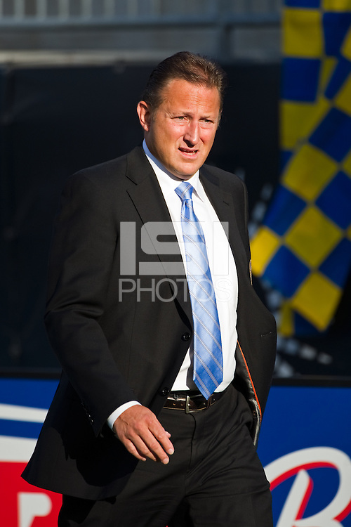 Philadelphia Union CEO Nick Sakiewicz. DC United defeated Philadelphia Union 1-0 during a Major League Soccer (MLS) match at PPL Park in Chester, PA, on June 16, 2012.