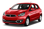 2019 Mitsubishi Space Star In 5 Door Hatchback angular front stock photos of front three quarter view