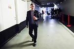 Stockholm 2014-09-27 Ishockey Hockeyallsvenskan AIK - Mora IK :  <br /> AIK:s tr&auml;nare Peter Gradin p&aring; v&auml;g ut fr&aring;n omkl&auml;dningsrummet inf&ouml;r tredje perioden<br /> (Foto: Kenta J&ouml;nsson) Nyckelord:  AIK Gnaget Hockeyallsvenskan Allsvenskan Hovet Johanneshovs Isstadion Mora MIK tr&auml;nare manager coach glad gl&auml;dje lycka leende ler le portr&auml;tt portrait