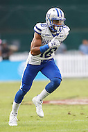 Washington, DC - September 16, 2016: Hampton Pirates wide receiver Wesley Wolfolk (18) in action during game between Hampton and Howard at  RFK Stadium in Washington, DC. September 16, 2016.  (Photo by Elliott Brown/Media Images International)