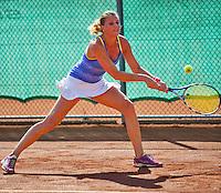 Netherlands, Amstelveen, August 23, 2015, Tennis,  National Veteran Championships, NVK, TV de Kegel,  Lady's single final 35+ years: Linda Sentis<br /> Photo: Tennisimages/Henk Koster
