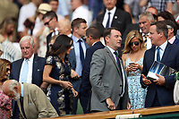 LONDON, ENGLAND - JULY 06: David Cameron attend day five of the Wimbledon Tennis Championships at the The All England Lawn Tennis Club on July 6, 2018 in London, England<br /> CAP/MPI122<br /> &copy;MPI122/Capital Pictures