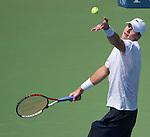 John Isner (USA) battles against Marcos Giron (USA)