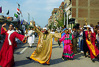 Dancers taking part in a cultural display in Cairo, Egypt