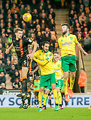 31st October 2017, Carrow Road, Norwich, England; EFL Championship football, Norwich City versus Wolverhampton Wanderers; Wolverhampton Wanderers defender Ryan Bennett battles Norwich City players Grant Hanley Mario Vrancic