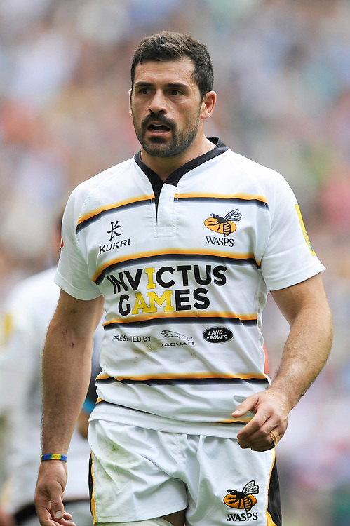 Andrea Masi of Wasps during the Premiership Rugby Round 1 match between Saracens and Wasps at Twickenham Stadium on Saturday 6th September 2014 (Photo by Rob Munro)