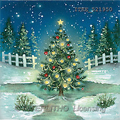 Isabella, CHRISTMAS LANDSCAPE, paintings, Christmastree, fence(ITKE521950,#XL#)