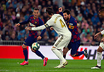 FC Barcelona's forwar Lionel Messi and Real Madrid CF's Sergio Ramos competes for the ball during La Liga match. Mar 01, 2020. (ALTERPHOTOS/Manu R.B.)