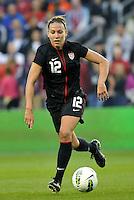 USWNT midfielder Lauren Cheney (12) in action.
