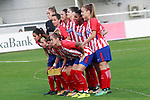 Atletico de Madrid's team photo during UEFA Womens Champions League 2017/2018, 1/16 Final, 1st match. October 4,2017. (ALTERPHOTOS/Acero)