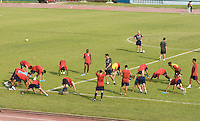USA practices in  Cuba, at the Estadio Nacional De Futbol Pedro Marrero Friday, Sept. 4, 2008.